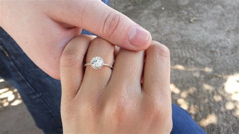 Wedding band for a thin halo engagement ring?   Weddingbee