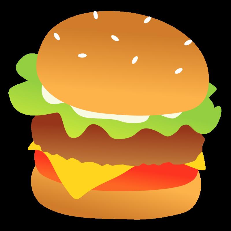 ハンバーガーのイラスト 美味しそうなフード素材 チコデザ