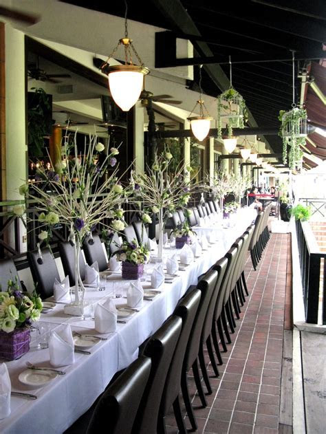 Wedding dinner table centerpiece decorated with elegant