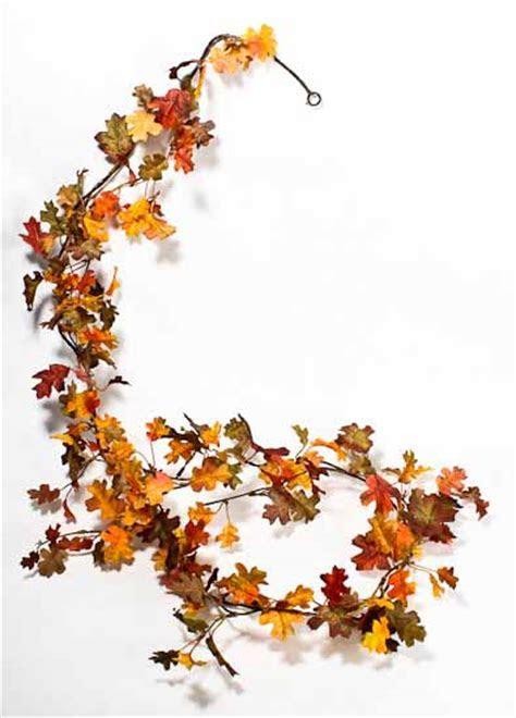 Miniature Artificial Oak Leaf Garland   Garlands   Floral