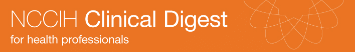 NCCAM Clinical Digest. For health professionals.