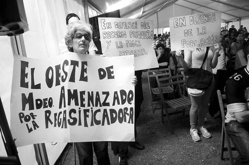 Audiencia pública por la regasificadora de Puntas de Sayago. Foto: Nicolás Celaya (archivo, octubre de 2013)