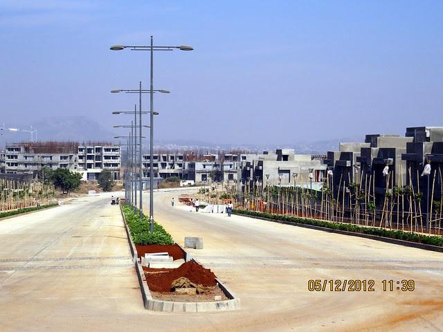 4th Avenue - 6 Lane Concrete Road & 2nd Avenue - Development in the 1st Year - Kolte-Patil Life Republic Marunji, Hinjewadi - Kasarsai Road, Pune 411057