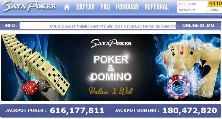 situs judi online casino games: Sayapoker Com Agen Judi