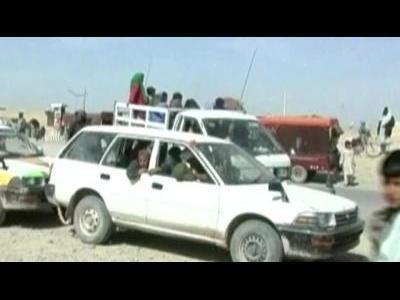 Civilians flee southern Afghanistan