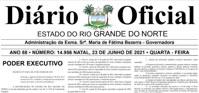 Novo decreto flexibiliza eventos no RN a partir de 23 de julho; veja cronograma
