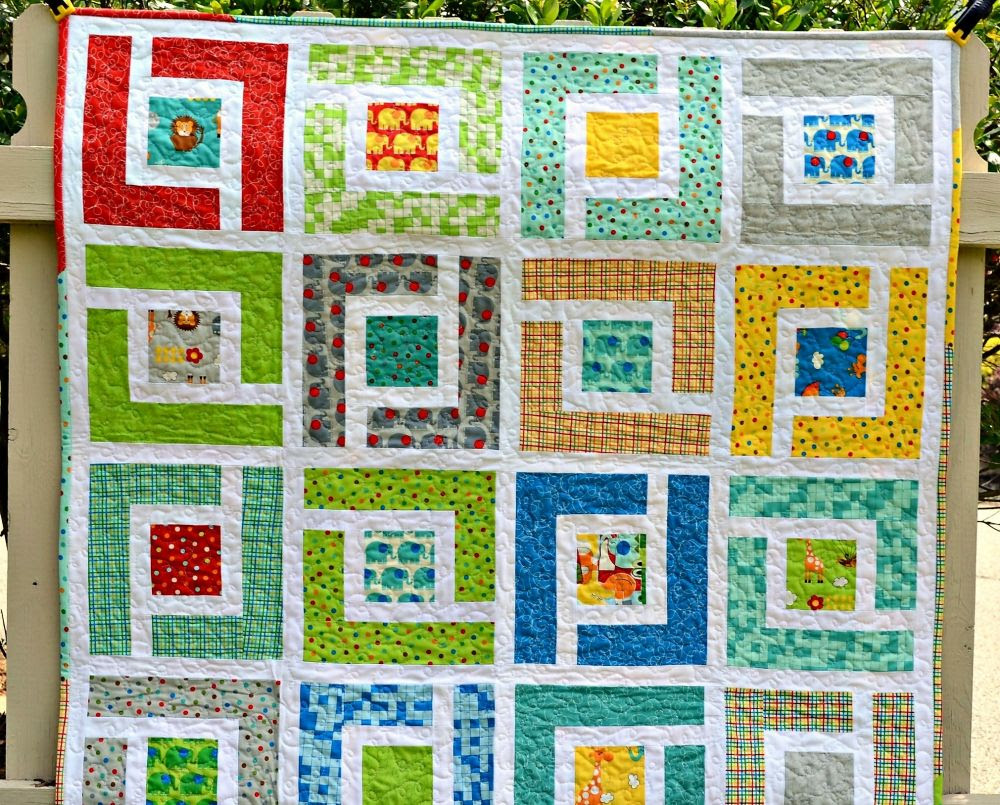 Jungle Path Baby Quilt