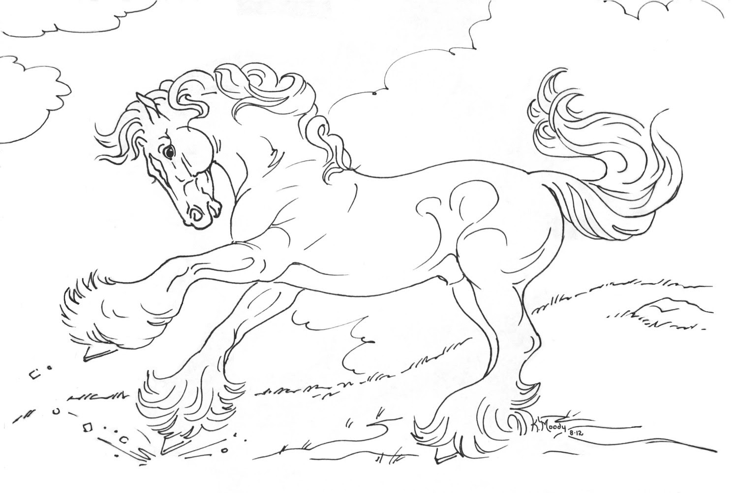 Coloring Pages Of Horses Rearing at GetColorings.com ...
