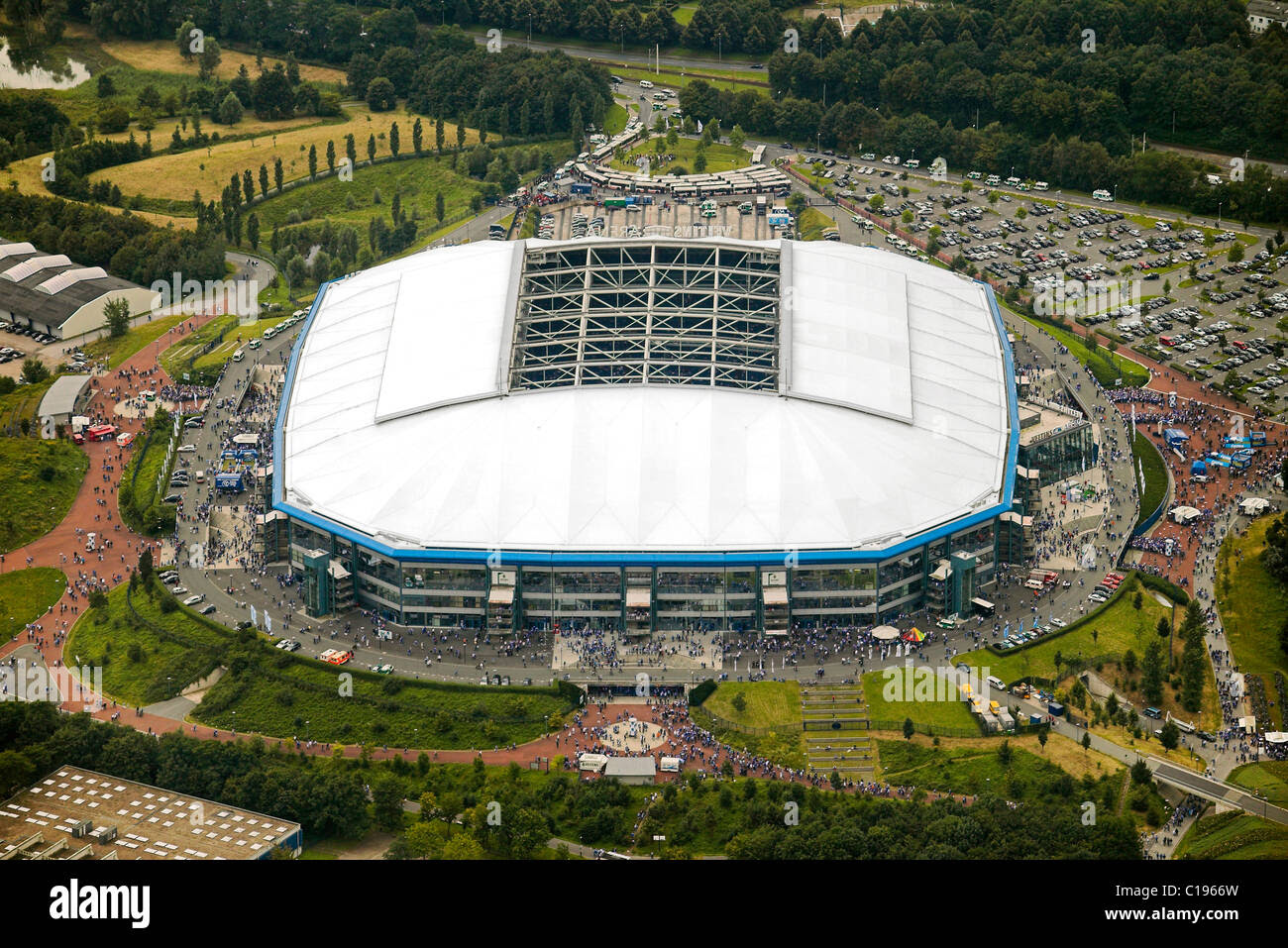 Aerial photo, Arena Auf Schalke, Schalke arena, Veltins Arena Stock Photo, Royalty Free Image ...