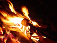 flaming marshmallow!
