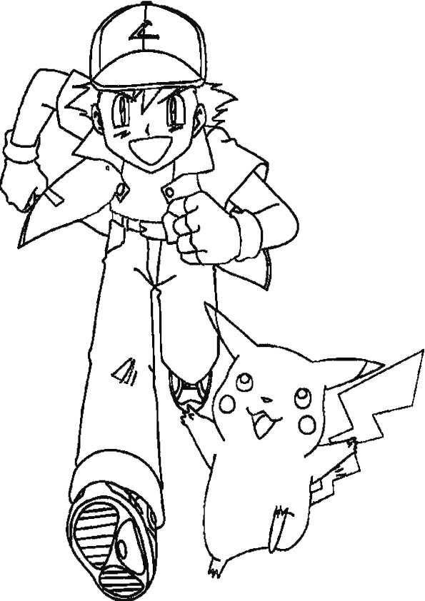 detektiv pikachu ausmalbilder  cartoonbild