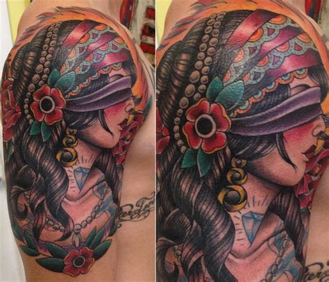 beautiful blindfolded tattoos tattoodo
