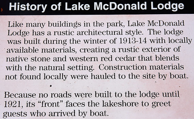 IMG_1980 History of Lake McDonald Lodge, Glacier National Park