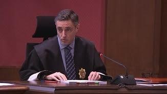 El fiscal Emilio Sánchez Ulled, exposant el seu informe final en el judici del 9N