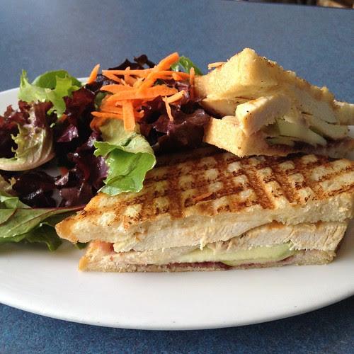 Brie & chicken panini