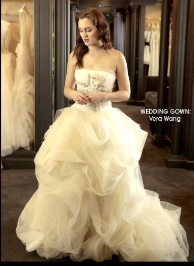 Blair Waldorf's Wedding Gown Revealed as a Vera Wang