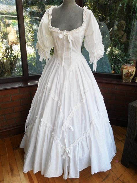 Vintage Laura Ashley Designer pure white frilled romantic