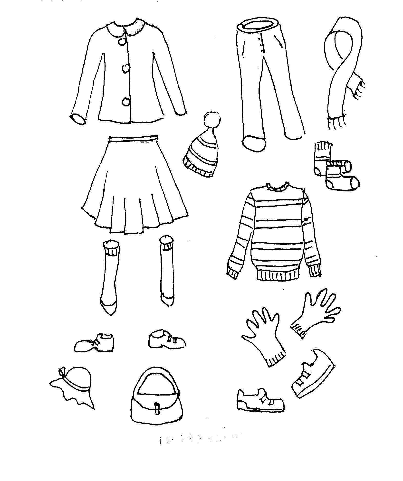Disegni Da Colorare Bambini I Vestiti