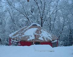 yurt snow