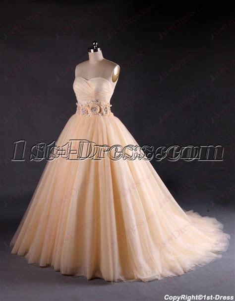 Beautiful Sweetheart Champagne Wedding Dresses:1st dress.com