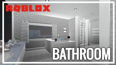 bloxburg bathroom speedbuild youtube