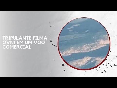 TRIPULANTE FILMA OVNI EM UM VOO COMERCIAL