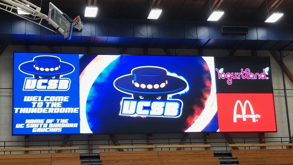 UCSB will debut its new state-of-the-art video board at its men's basketball game on Wednesday, Jan. 9.