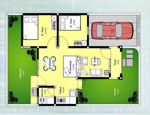 Rumah Minimalis Type 45 3 Kamar Tidur Seputaran Rumah