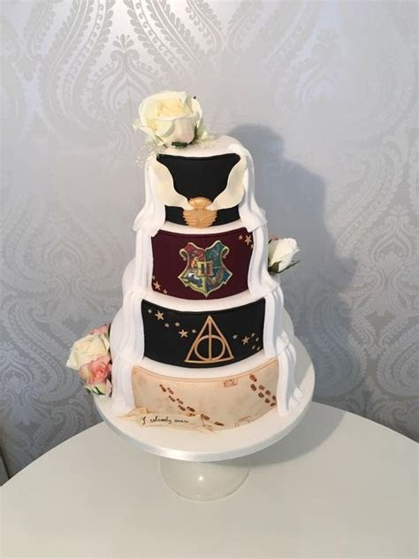 Magical Harry Potter wedding cake creation on display at