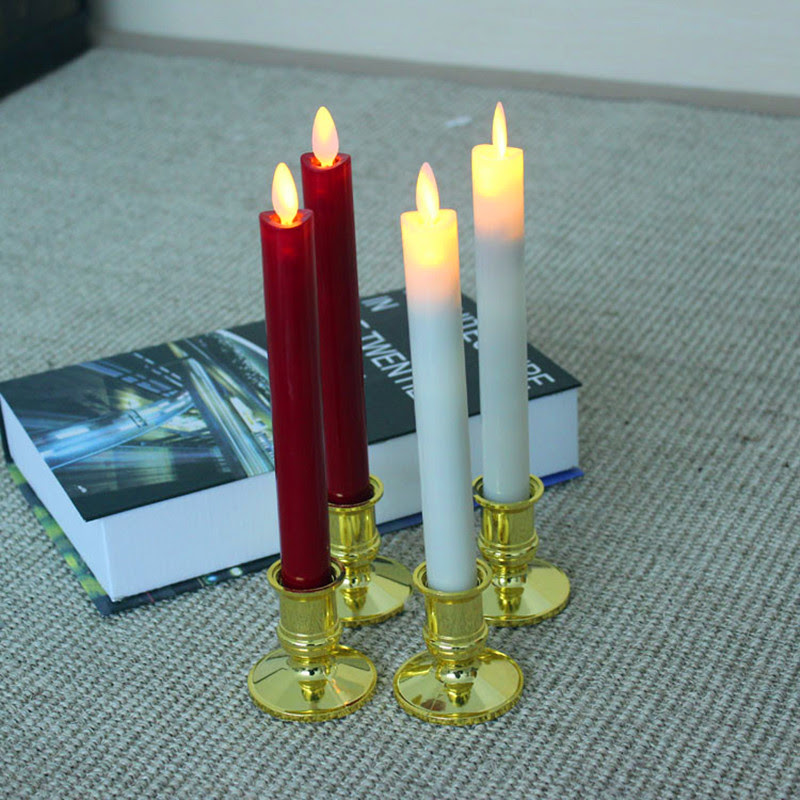 LED candle night light with candle holders novelty night ...