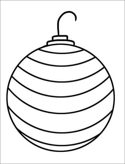 Disegni Di Palline Di Natale.Palla Di Natale Da Colorare Pagina Da Colorare Immagini Da