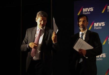 Felipe Chao y José Antonio Vega, vocero y vicepresidente de MVS. Foto: Octavio Gómez