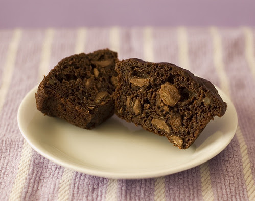 chocolate muffins inside