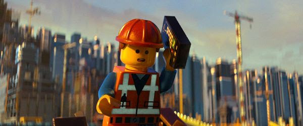 Emmet (Chris Pratt) is unaware of the destiny that will befall him in THE LEGO MOVIE.