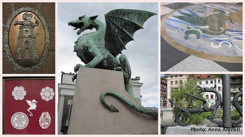 Ljubljana-dragons by Anna Amnell