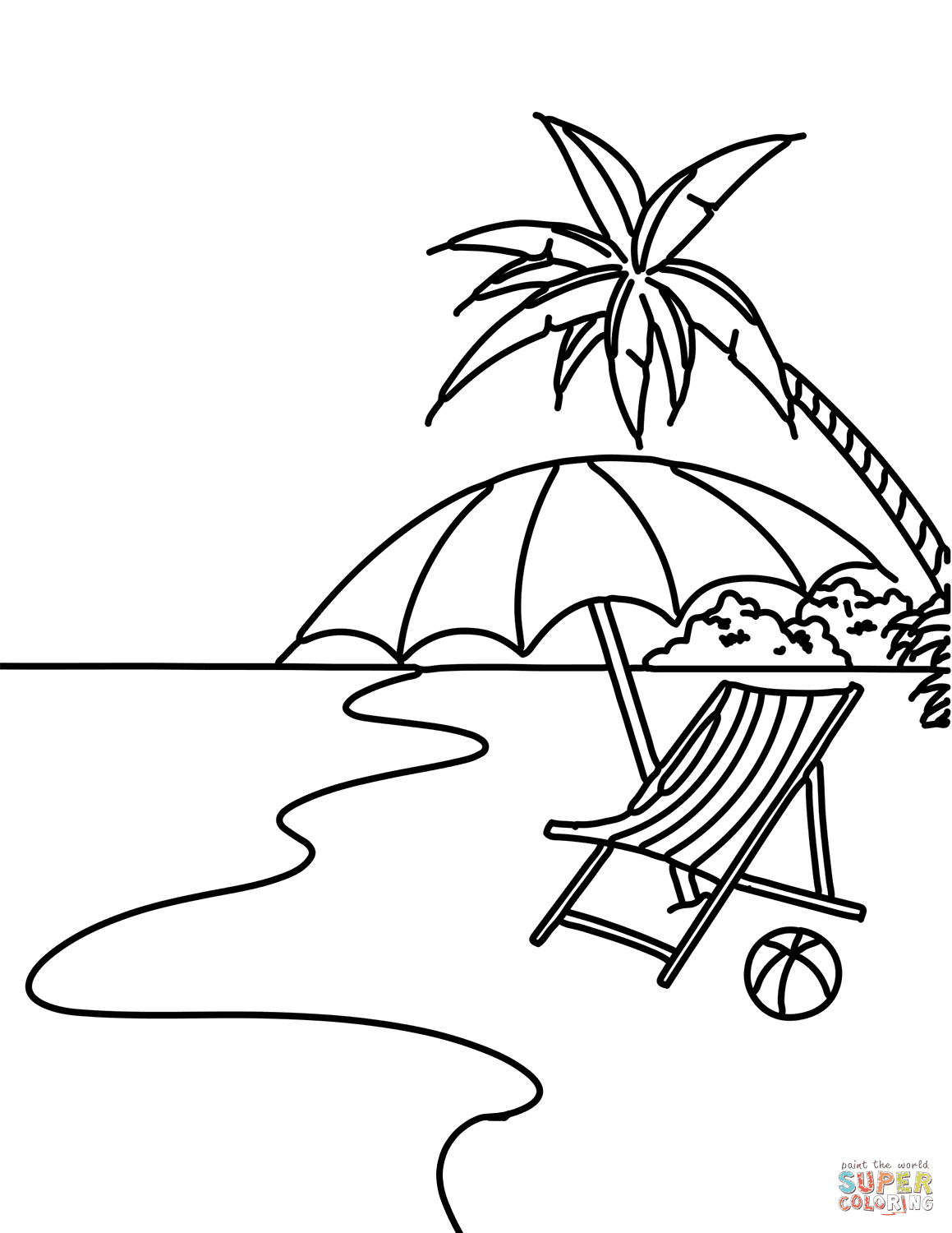 80 Coloring Book Pages Beach Download Free Images