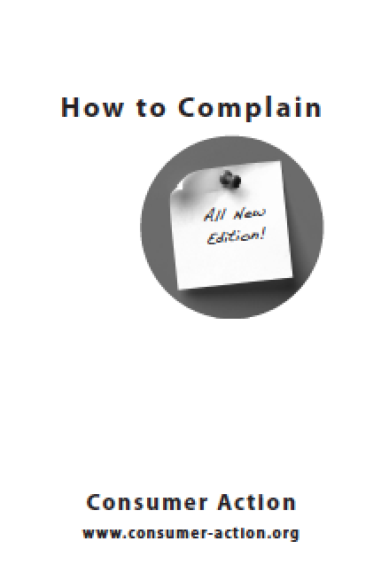 Consumer Action How To Complain