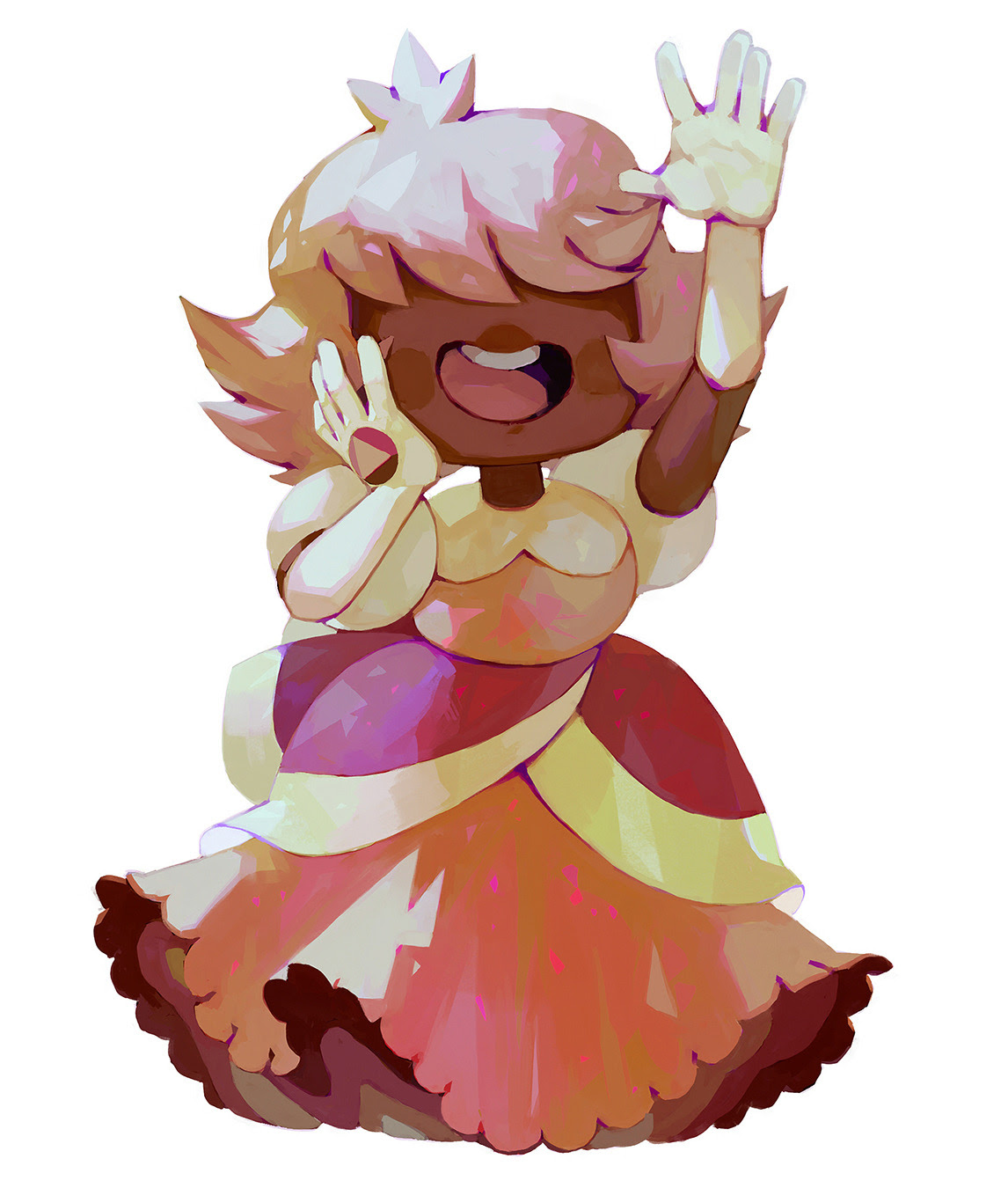 Padparadscha & Sapphire, really enjoyed painting these two also I'm going to post art from now on on twitter: twitter.com/bluekomadori, so you can follow me there!