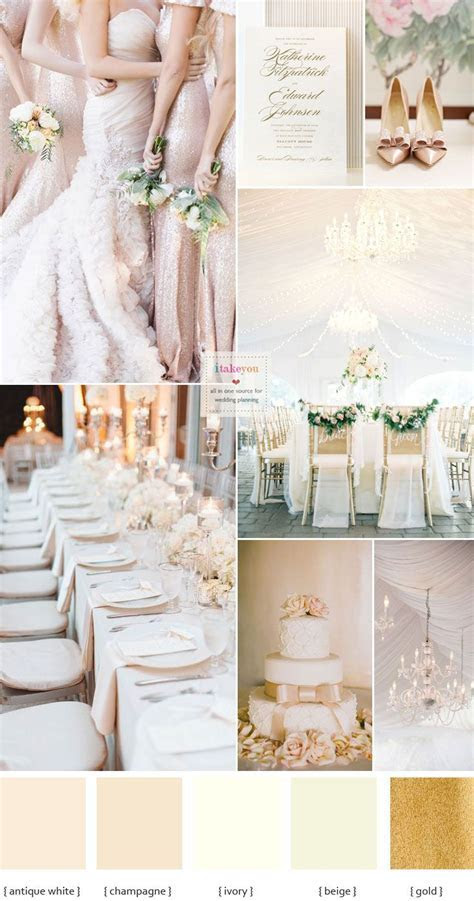 Champagne wedding colors { Elegance Wedding Palette