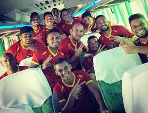 Globo FC - jogadores - ônibus (Foto: Divulgação/Globo FC)