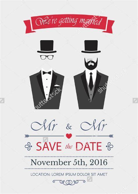 18  Gay Wedding Invitation Templates ? Free Sample