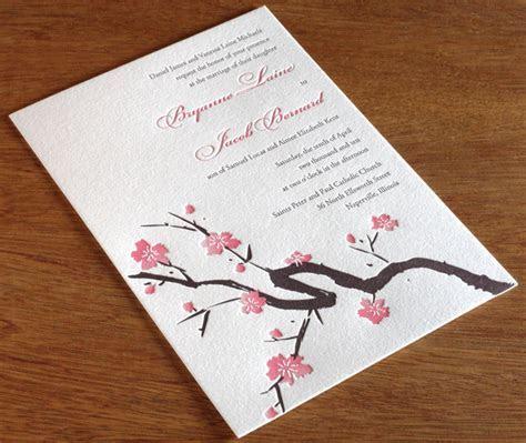 Cherry Blossom Wedding Invitation Gallery   Sakura