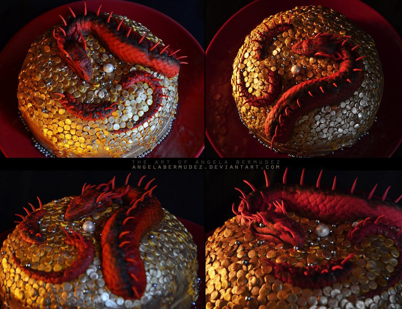 Smaug cake by Angela Bermudez