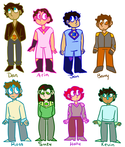 newborn gemlings!! of course they're not all the same age, but i wanted to show their first generation outfits!