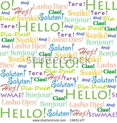 Christmas greetings different languages display natal 7 stock vector seamless background with words hello in m4hsunfo