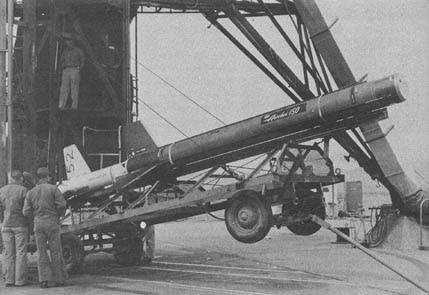 An Aerobee 150 sounding rocket.