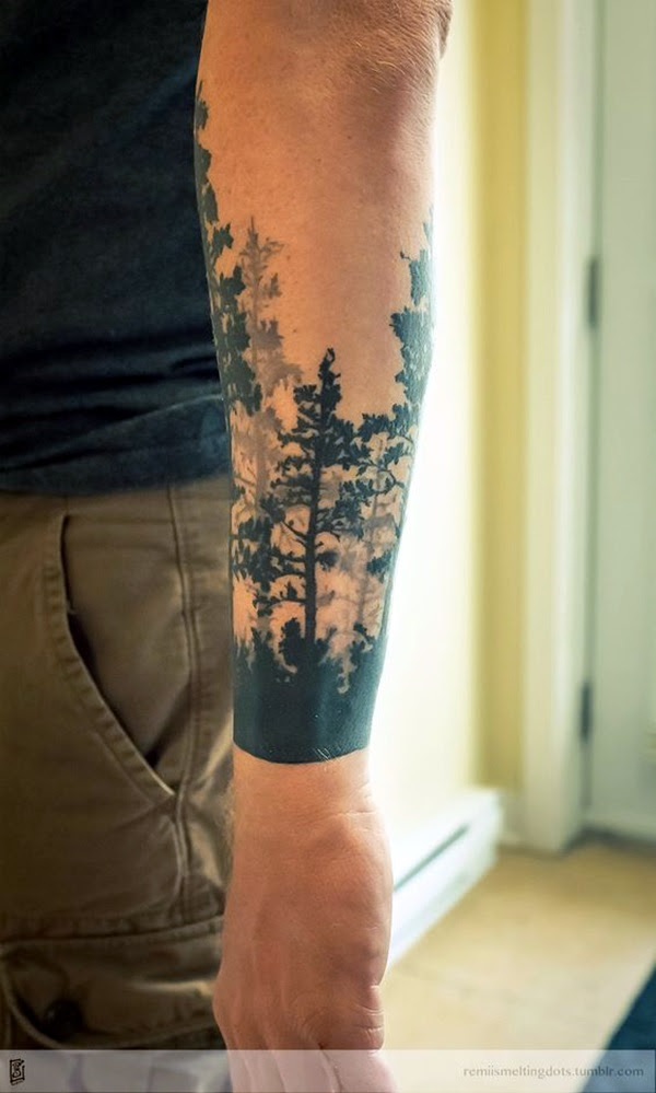 Deep and Super Cool Forest Tattoo Ideas (28)
