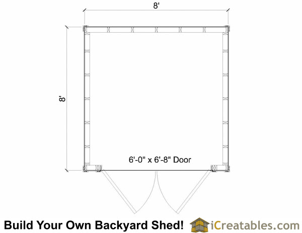 Easy To Shed Designs 8x8