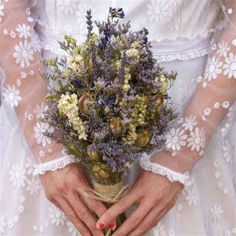 provence dried flower wedding bouquet by the artisan dried