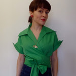 Green Vintage Blouse